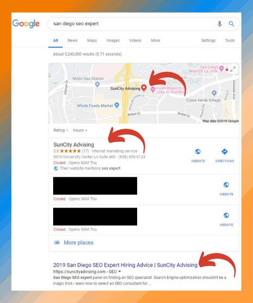Ranking on Google Maps